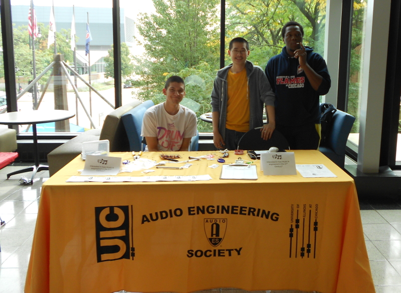 AES Members at UIC Campus Programs' Open House 2013