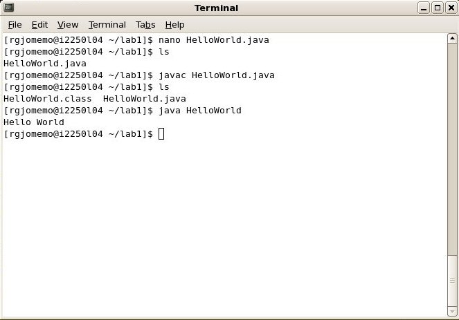 how to run java from terminal