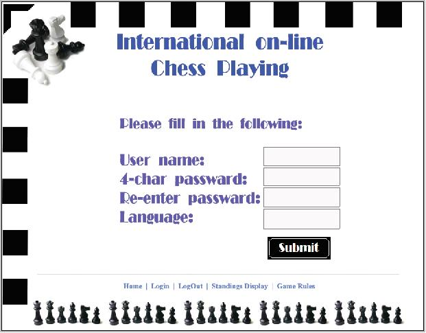 International On Line Chess Ui Developement Evalauation